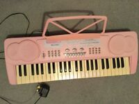Girls Pink Acoustic Solutions MK4100A Electric Keyboard