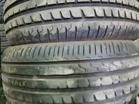 FREE FITTING 2 X AVON 215 50 17 TYRES 7MM MATCHING PAIR NEARLY NEW