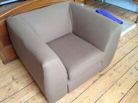 Big comfortable armchair grey