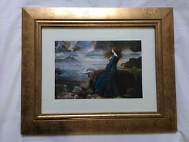 Miranda (The Tempest) Print by John Waterhouse in frame