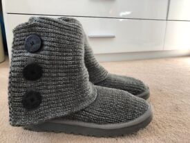 Ugg Cardy Style Knitted Boots in grey uk 6.5