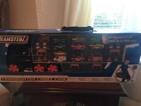 Teamster truck with 12 cars Brand New in Box