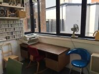 Desk Space £167ppm +Vat. Includes all bills Off Broadway market, Hackney.