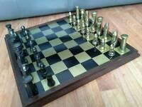Vintage Brass Chess Set