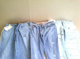 selection of new unworn designer jeans...Versace...size 11.dolce&gabbana..size 12..pinko. size 12
