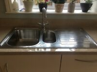 Stainless Steele 1.5 bowl sink and drainer