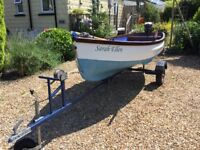 Lune Pilot 12.5 ft fishing / day Boat. Engine. Road trailer etc. Excellent condition.
