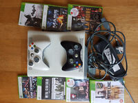 X Box 360 (with 2 controllers, 7 games included)