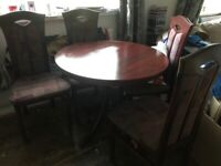 Dark wood beautiful Table and chairs