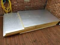 2 sheets £45 each. Celotex GA4050 General Application Insulation Board 50mm x 1200mm x 2400mm