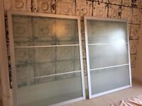 2 Glass Ikea sliding doors together fit 3 pax wardrobe units