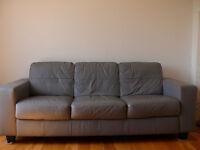 Ikea Skogaby leather sofa