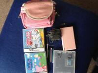 Ds lite pink console and games