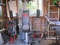 compact multigym and rowing machine