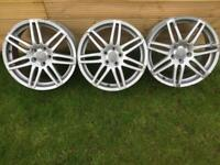 "AUDI RS4 7 spoke Silver 18"" 5x112 ET45 alloys"