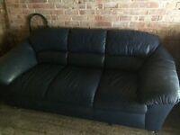 free blue leather sofa Croxley Green