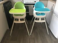 2 x keter high chairs