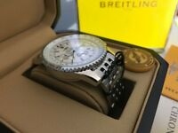 New Swiss Breitling Navitimer White Dial Stainless Steel CHRONOGRAPH Watch