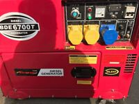 Silenced Diesel Generator - Bulldog BDE6700T Single Phase 5 KVA CT0405 !Nearly New! - £1195 ONO