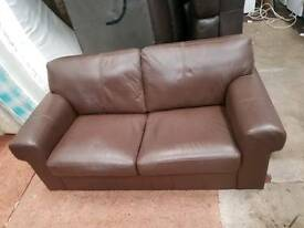 Brown leather sofa for sale good clean conditions