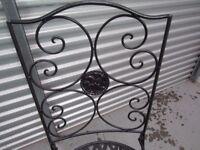 Vintage Black Metal Chairs
