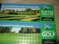 Golf Tickets for rounds at Murrayshall (Championship Course) and Dalmahoy
