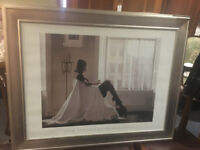 """Nice Looking """"In Thoughts of You"""" Jack Vettriano Very Large Framed Art Print"""