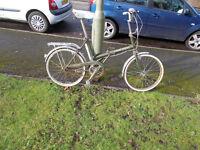 1970s 3-speed Raleigh Stowaway Folder bicycle (green)