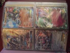 Binder full both sides of Pokemon cards,includes 3x EX + 1x Full Art GX