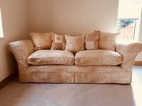 2 large sofas , imaculate condition , hardly used since new removable covers .