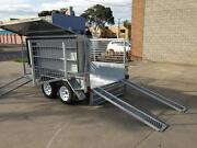 8x5 Tandem Lawn Mower Trailer 400mm side Heavy Duty Galvanised Seaford Frankston Area Preview