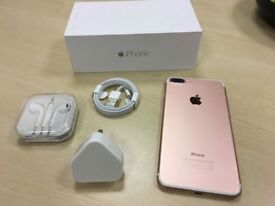 Rose Gold Apple iPhone 7 Plus 128GB Unlocked Mobile Phone Warranty