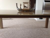 Large Glass Top Coffee Table For Sale