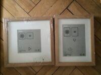 5 x Oak Picture Frames Ribba Style Ikea