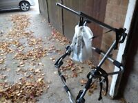 Cycle rack carrier takes up to 3 bikes fits most hatchback cars comes with fitting straps vgc