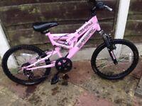 Little girls bike needs gears resetting