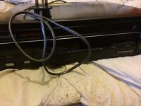 Two laserdisc players and DVD recorder