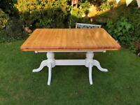 Farmhouse extendible dining table only