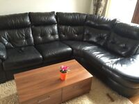 Corner sofa DFS real leather for sale