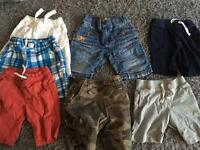 Boys clothes bundle shorts & swimming shorts aged 2-3 years
