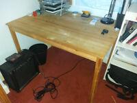 Bedroom wooden table