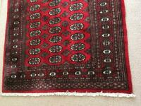 Large Red 100% Wool Rug