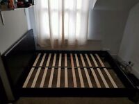 Black Double bed frame with headboard
