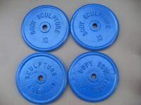 4 x 10kg Cast Iron Plates