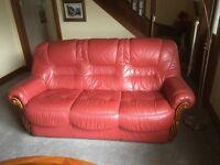 Leather 3-piece Lounge Suite