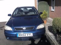 Vauxhall Astra Club Blue 2002 FOR SPARES ONLY