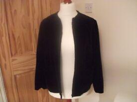 Black Velvet Jacket - Size 16