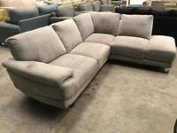 New grey corner sofa
