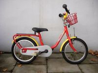 Kids Bike by Puky, Red & Yellow, 16 inch wheels,Great Condition, JUST SERVICED / CHEAP PRICE!!!!!!!!