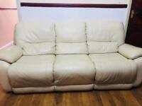 Leather sofas- cream